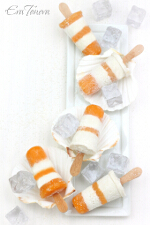 Coconut persimmon ice pops small