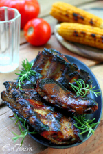 Grilled pork ribs small