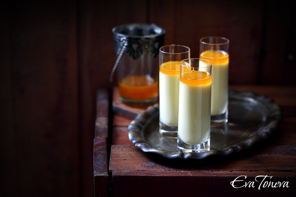Honey-Saffron Panna Cottas Recipe — Dishmaps