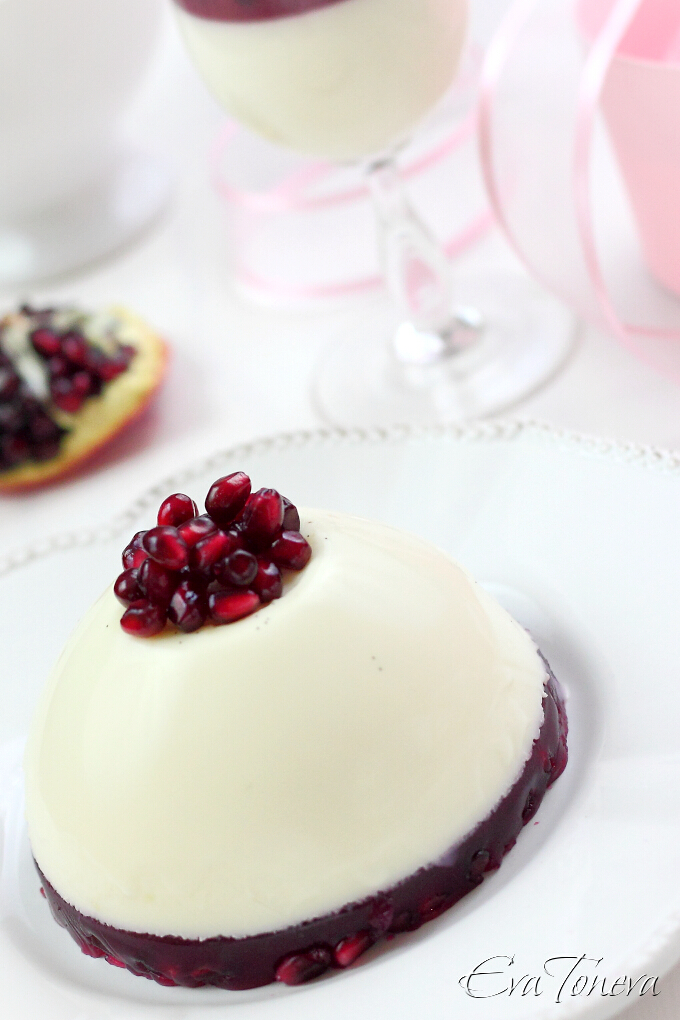Pomegranate Panna Cotta0