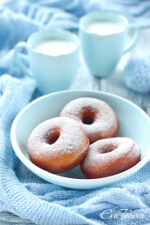 Sweetened condensed milk donuts small